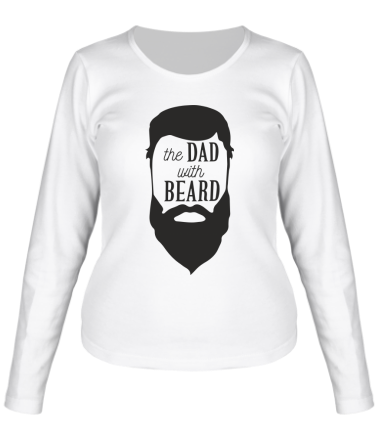 Женская футболка длинный рукав The Dad with beard