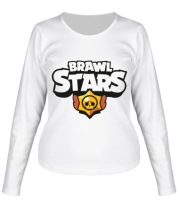 Женская футболка с длинным рукавом  Brawl Stars multi-colored