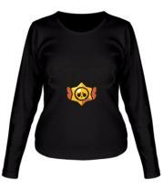 Женская футболка длинный рукав  Brawl Stars multi-colored