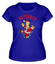 Женская футболка  Веселого праздника