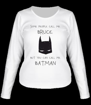 Женская футболка длинный рукав Batman