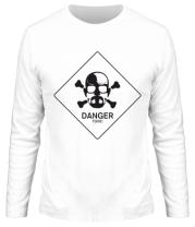 Мужская футболка с длинным рукавом DANGER