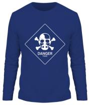 Мужская футболка длинный рукав DANGER
