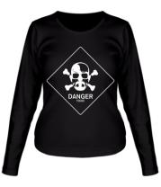 Женская футболка с длинным рукавом DANGER