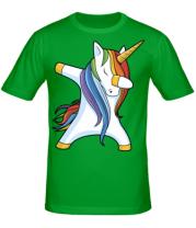 Мужская футболка Unicorn dabbing