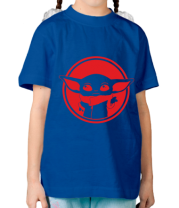 Детская футболка Baby yoda monochrom