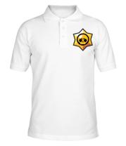 Мужская футболка поло Brawl Stars minimal logo