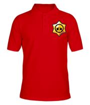 Футболка поло мужская Brawl Stars minimal logo