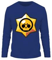 Мужская футболка с длинным рукавом Brawl Stars minimal logo