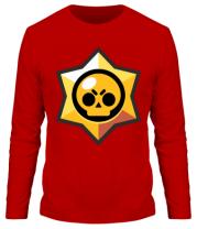 Мужская футболка длинный рукав Brawl Stars minimal logo