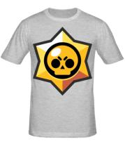 Мужская футболка  Brawl Stars minimal logo
