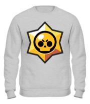 Толстовка без капюшона Brawl Stars minimal logo