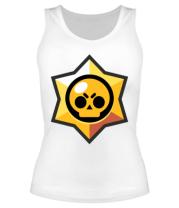 Женская майка борцовка Brawl Stars minimal logo