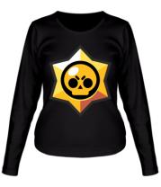 Женская футболка с длинным рукавом Brawl Stars minimal logo
