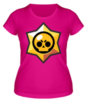 Женская футболка  Brawl Stars minimal logo