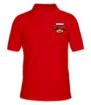Футболка поло мужская Brawl Stars Logotype
