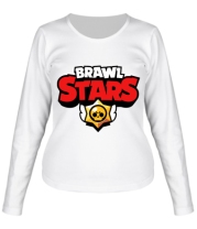 Женская футболка с длинным рукавом Brawl Stars Logotype