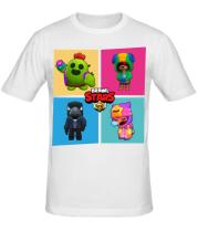 Мужская футболка  Four Legendary Characters in Brawl Stars