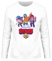 Мужская футболка с длинным рукавом Brawl Stars Three Characters
