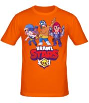 Мужская футболка  Brawl Stars Three Characters