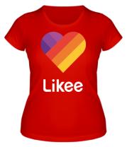 Женская футболка  Likee logo