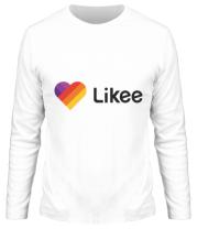 Мужская футболка с длинным рукавом Likee logo