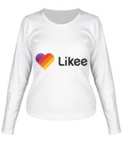 Женская футболка длинный рукав Likee logo