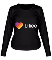 Женская футболка с длинным рукавом Likee logo