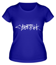 Женская футболка Cybertruck tesla logo