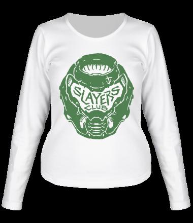 Женская футболка с длинным рукавом DOOM Slayer Club