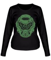 Женская футболка длинный рукав DOOM Slayer Club