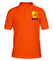 Мужская футболка поло Leon hero and logo