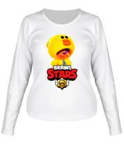 Женская футболка длинный рукав Leon hero and logo