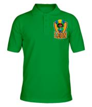 Мужская футболка поло BS Leon emblem shield