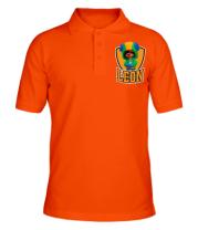 Футболка поло мужская BS Leon emblem shield