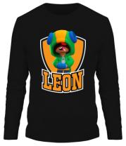 Мужская футболка длинный рукав BS Leon emblem shield