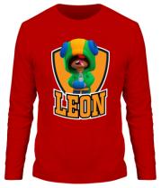 Мужская футболка с длинным рукавом BS Leon emblem shield