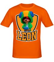 Мужская футболка  BS Leon emblem shield