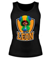 Женская майка борцовка BS Leon emblem shield
