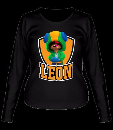 Женская футболка с длинным рукавом BS Leon emblem shield