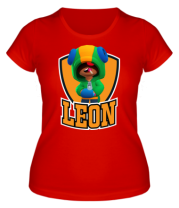 Женская футболка  BS Leon emblem shield