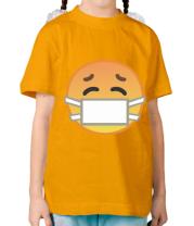 Детская футболка Не болеем , маски носим