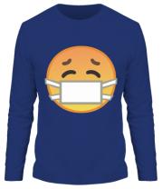 Мужская футболка с длинным рукавом Не болеем , маски носим