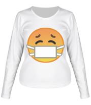 Женская футболка длинный рукав Не болеем , маски носим