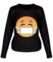Женская футболка с длинным рукавом Не болеем , маски носим