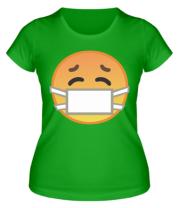 Женская футболка Не болеем , маски носим
