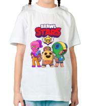 Детская футболка Brawl Stars three characters from the game
