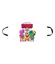Маска Brawl Stars three characters from the game