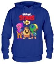 Толстовка худи Brawl Stars three characters from the game
