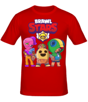 Мужская футболка Brawl Stars three characters from the game